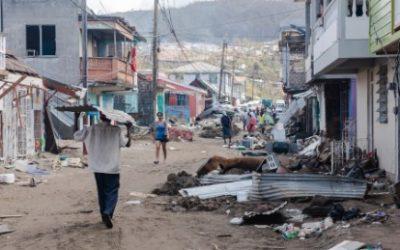 Hurricane Maria made its first landfall on the Caribbean island